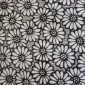 Black/white Daisy Precut