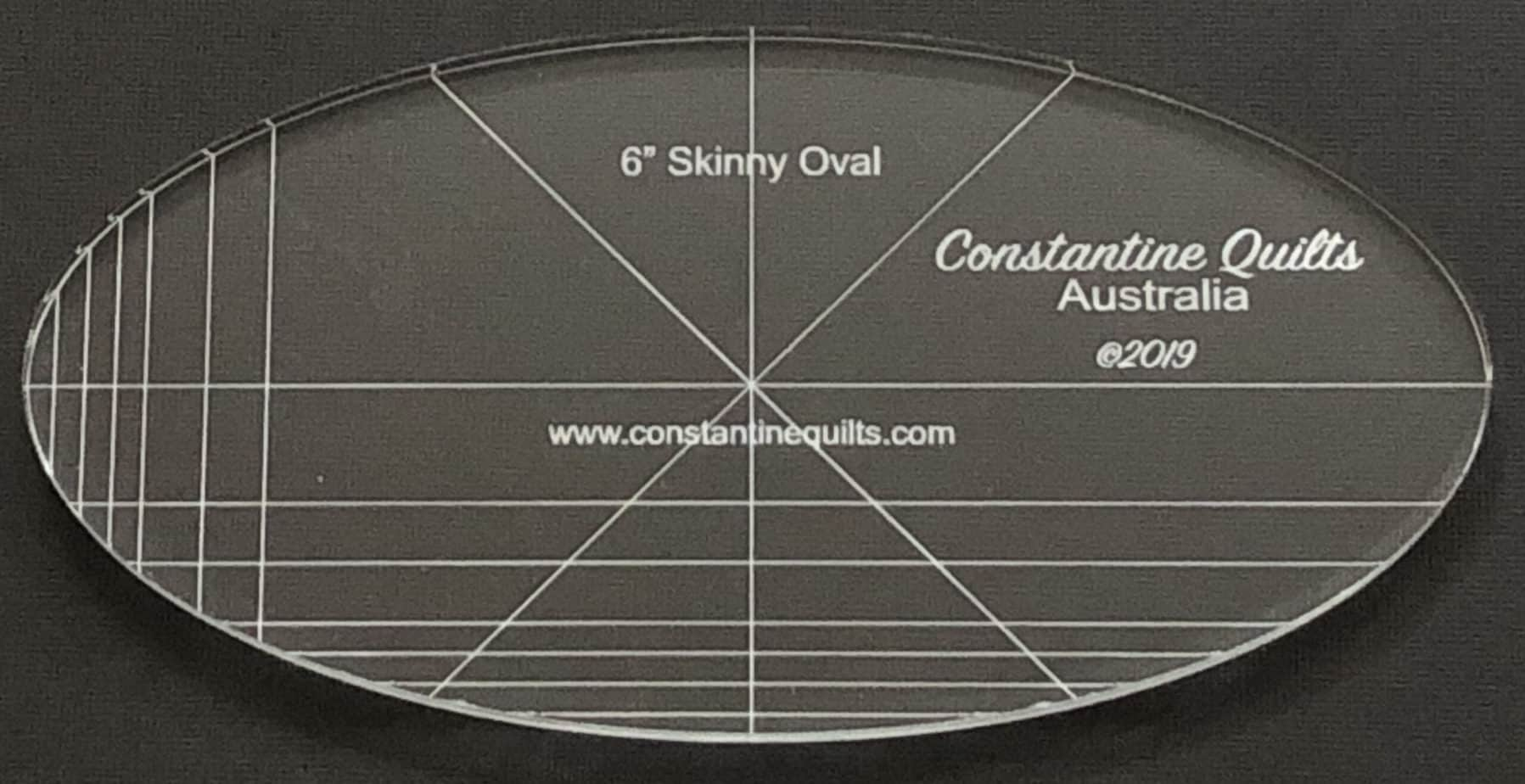 6 skinny oval