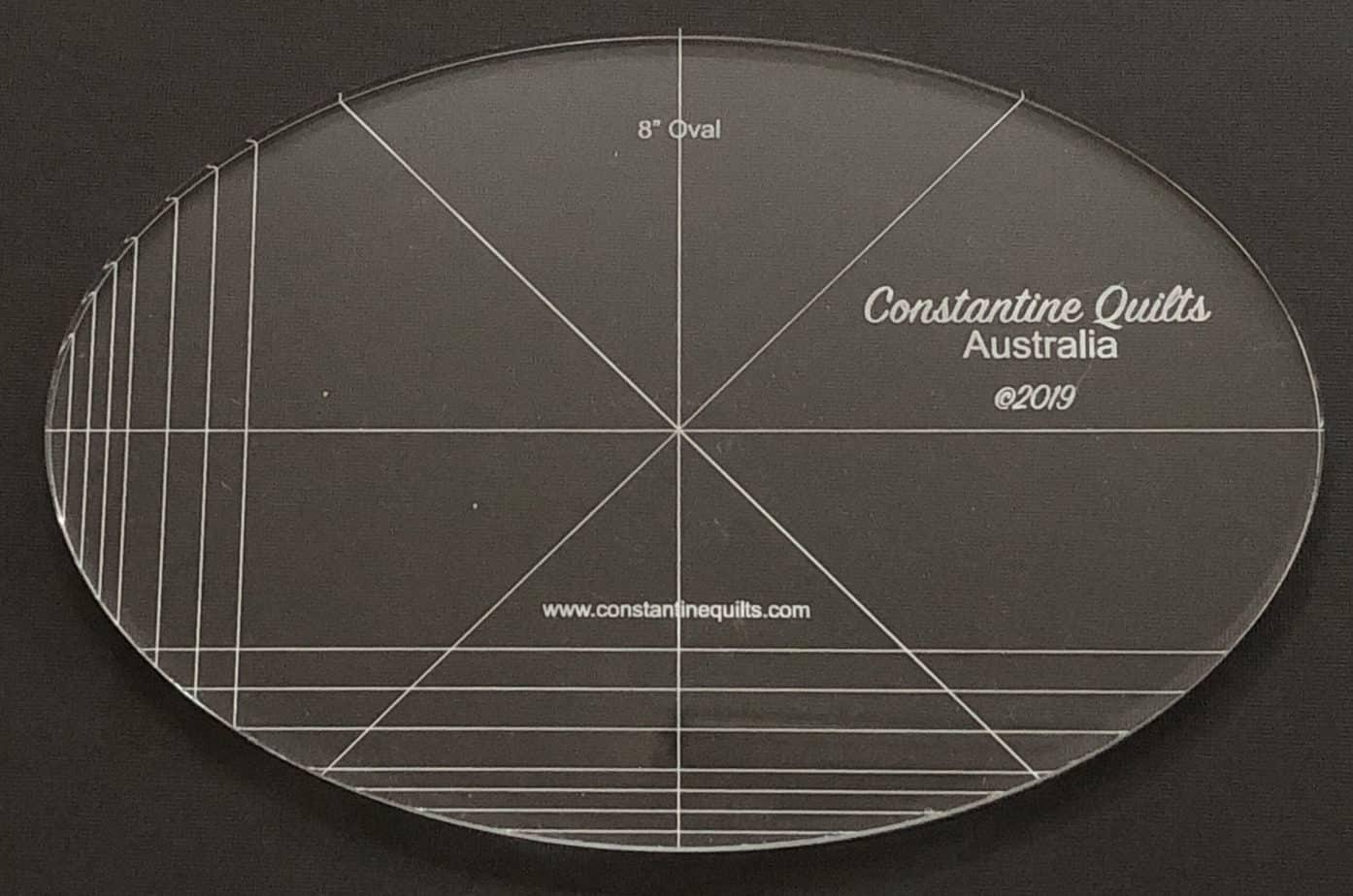 8 oval ruler