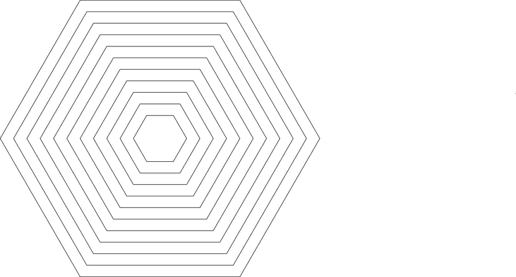 1 5 inch hexagon template - nested hexagons 1 6 sides design templates